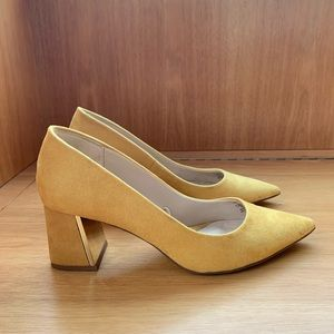 Yellow Zara heels 9.5